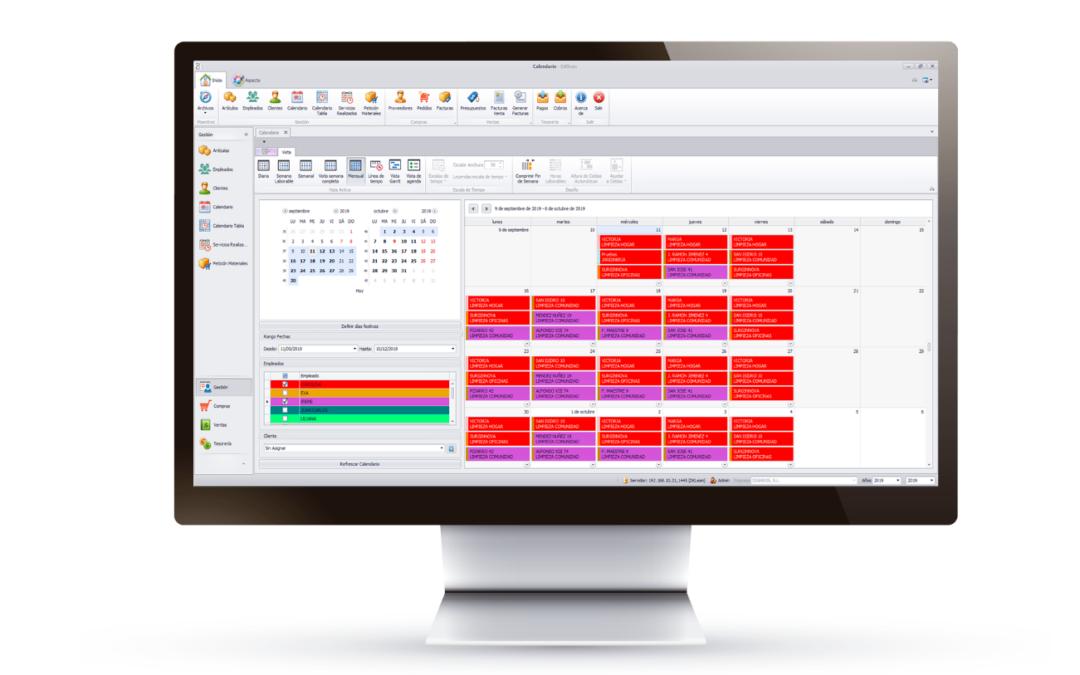 El software específico para empresas de limpieza dKlean cuenta con las herramientas necesarias para conseguir una gestión más eficaz. Además, cuenta con una implantación sencilla que no requiere de inversión en equipos informáticos nuevos. Ayuda, además, a optimizar la productividad.